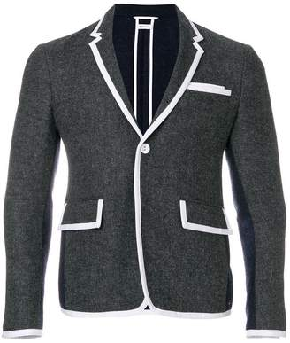 Thom Browne Bicolor High-Armhole Wool Sport Coat