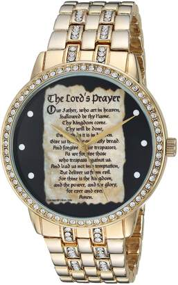 EWatchFactory Men's 'EW Lords Prayer' Quartz Metal and Alloy Casual Watch, Color:-Toned (Model: PW00195)