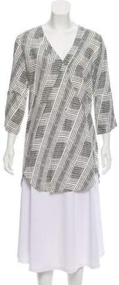 Vix Paula Hermanny Print Three-Quarter Sleeve Tunic w/ Tags