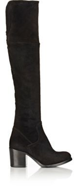 Barneys New York Women's Suede Brandy Over-The-Knee Boots-BLACK $795 thestylecure.com