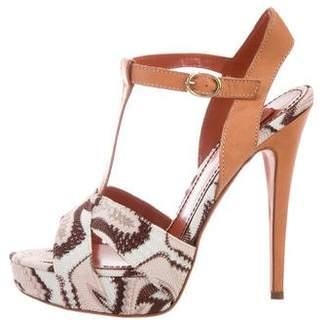 Missoni Knit Platform Sandals