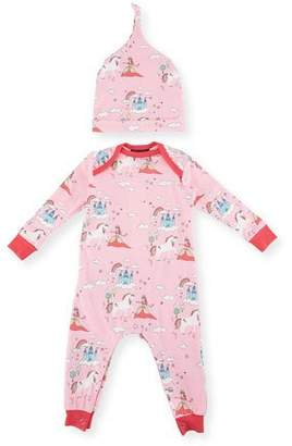 BedHead Unicorn Princess Knit Coverall w/ Hat