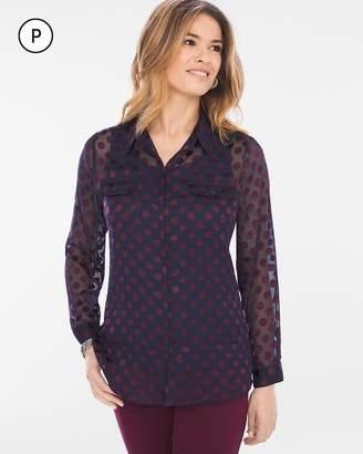 Chico's Petite Luxe Dot-Print Shirt
