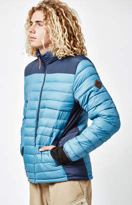 Burton Evergreen Hooded Down Insulator Blue Snow Jacket