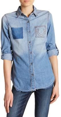 True Religion Boyfriend Denim Button Down Shirt