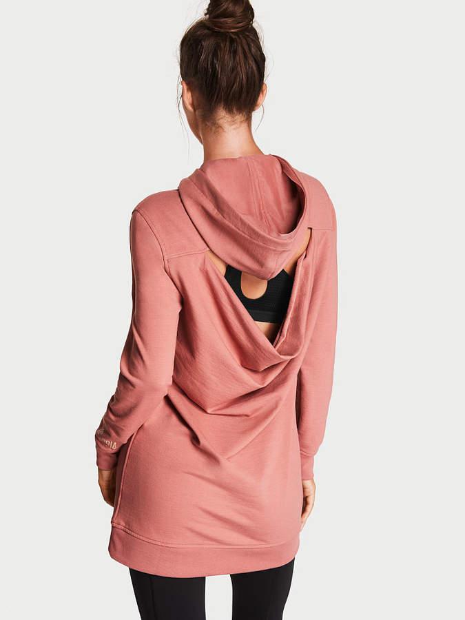 Victoria Sport Fleece Cutout-back Hoodie