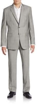 Saks Fifth Avenue Slim-Fit Tonal Plaid Wool Suit