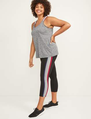 Lane Bryant LIVI Active Signature Stretch Capri Legging - Side Stripe