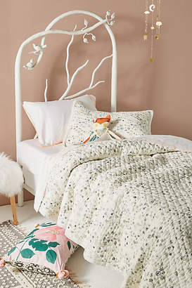 Pehr Grey Floral Twin Quilt