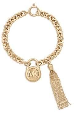 Michael Kors Goldtone Steel Padlock Chain Bracelet