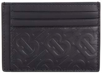 Leather Monogram Card Holder