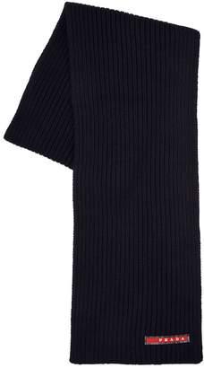 Prada Wool Rib Knit Scarf