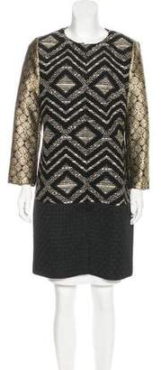 Giambattista Valli Metallic Knee-Length Coat