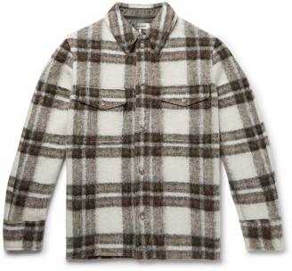 Isabel Marant Gervon Checked Wool-Blend Shirt Jacket - Men - Green