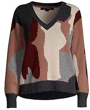 360 Cashmere Women's Skull Cashmere Cropped Sweater