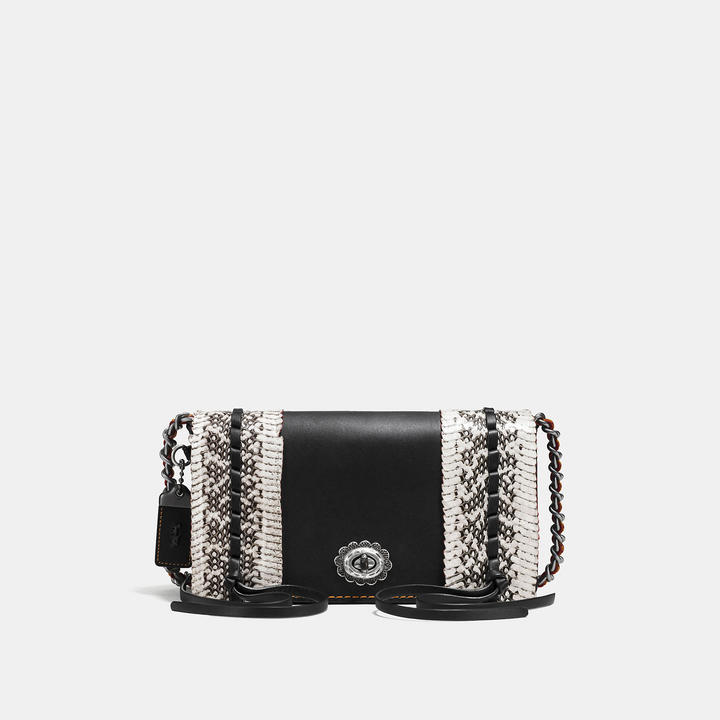 Coach  COACH Coach Dinky In Glovetanned Leather With Whipstitch Snake