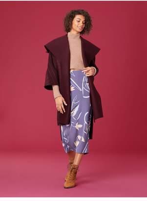 Diane von Furstenberg 3/4 Sleeve Collared Coat