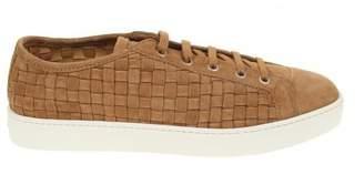 Santoni Lace Up Sneakers Brown Suede