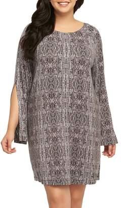 Tart Avia Print Split Sleeve Shift Dress