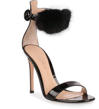 Gianvito Rossi Brigitte 105 patent black sandal