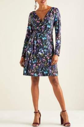 Yumi Long-Sleeve Iris Dress
