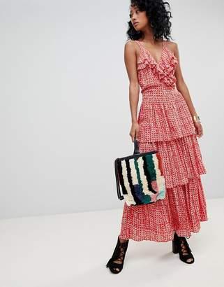 Cleobella Geo-Tribal Tiered Maxi Dress