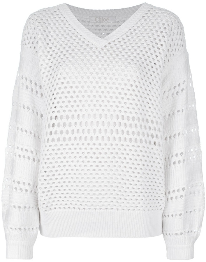 Chloé knitted perforated sweater
