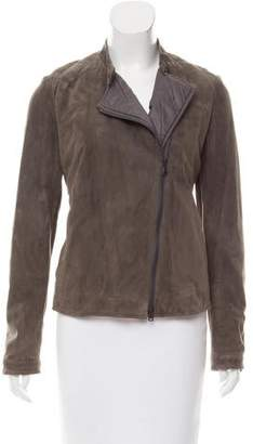 Brunello Cucinelli Monili-Trimmed Suede Jacket w/ Tags
