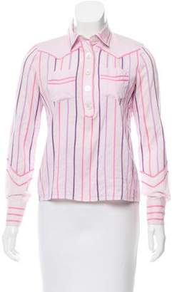 Marc by Marc Jacobs Striped V-Neck Top w/ Tags