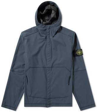 Stone Island Light Soft Shell SI Check Grid Hooded Jacket