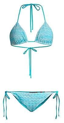 Missoni Mare Women's Textured Stripe Bikini Set