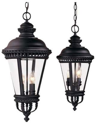 Feiss Murray OL1911BK Black 4 Light Outdoor Pendant from the Castle Collection