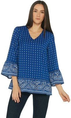 Belle By Kim Gravel Belle by Kim Gravel Paisley Border Print Blouse