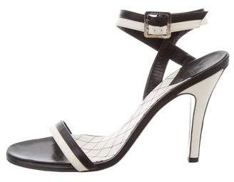 Chanel Leather Ankle-Strap Sandals