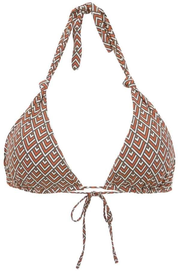Track & Field printed bikini top