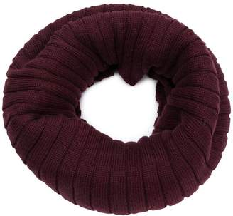 Courreges rib knit collar scarf