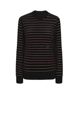 Sonia Rykiel Velvet And Lurex Sweatshirt