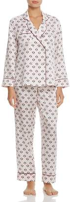 GINIA Double-Breasted Silk Long PJ Set