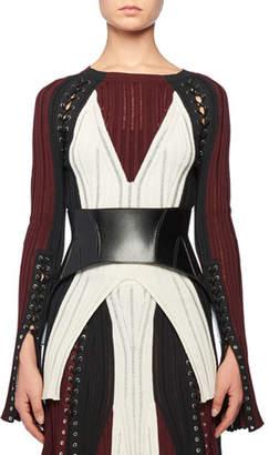 Alexander McQueen Calfskin Leather Corset Belt