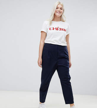 Asos Tailored Clean High Waist Linen Peg Pants