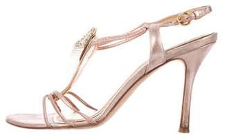 Rodo Embellished Metallic Sandals