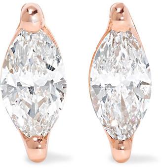 Anita Ko - 18-karat Rose Gold Diamond Earrings - one size $3,150 thestylecure.com