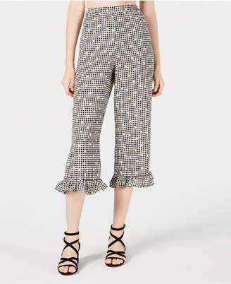 Material Girl Juniors' Printed High-Waist Cropped Pants