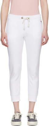 Champion Reverse Weave White Small Logo Lounge Pants