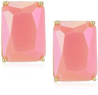 T Tahari Womens Essentials Rectangular Pink Clip Stud Earring