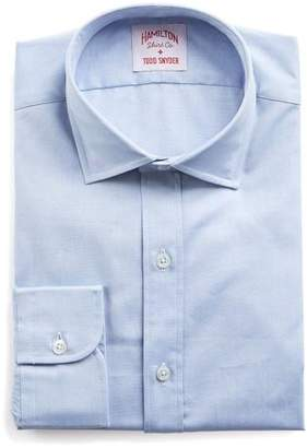 Hamilton Blue Solid Pinpoint Shirt