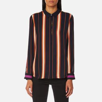Maison Scotch Women's Silky Button Up Shirt