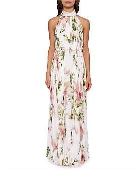 Ted Baker Nicee Maxi Floral Chiffon Dress