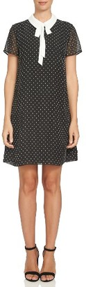 Women's Cece Collared Clip Dot Shift Dress $119 thestylecure.com