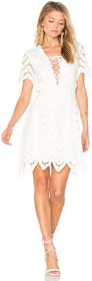 J.O.A. Lace Up Crochet Mini Dress $83 thestylecure.com